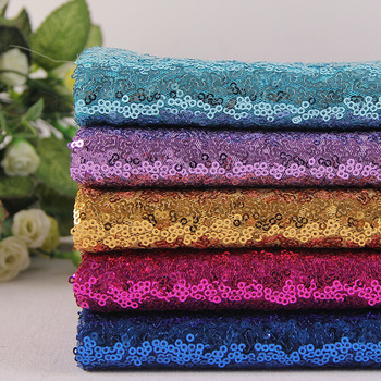 2019 Factory Sale Quality 100% Polyester beautiful popular Sequin Fabric Colorful Sequin Textiles