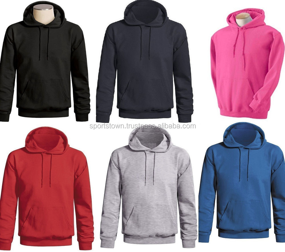 Wholesale blank hoodies Cheap plain thick fleece pullover sweat hoodie  custom men hooded sweatshirts hoodies 8434b239685e