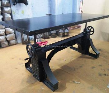Industriele Meubels Vintage.Iron Top Bronx Crank Tafel Vintage Industriele Retro Eettafel Buy