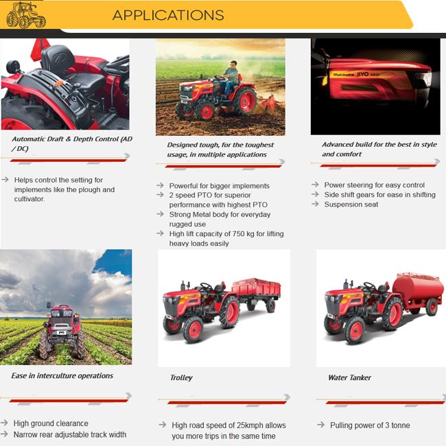 Highly Advanced Mahindra JIVO 225 DI 2WD Tractor, View Mahindra JIVO 225 DI  2WD Tractor, Mahindra Product Details from SHIVA ENTERPRISE on Alibaba com