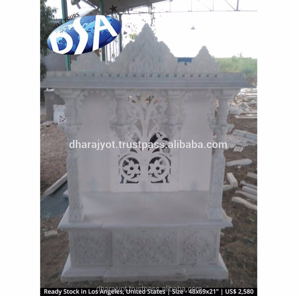 Designs For Indian Mandir White Marble Home Temples - Buy Small ...