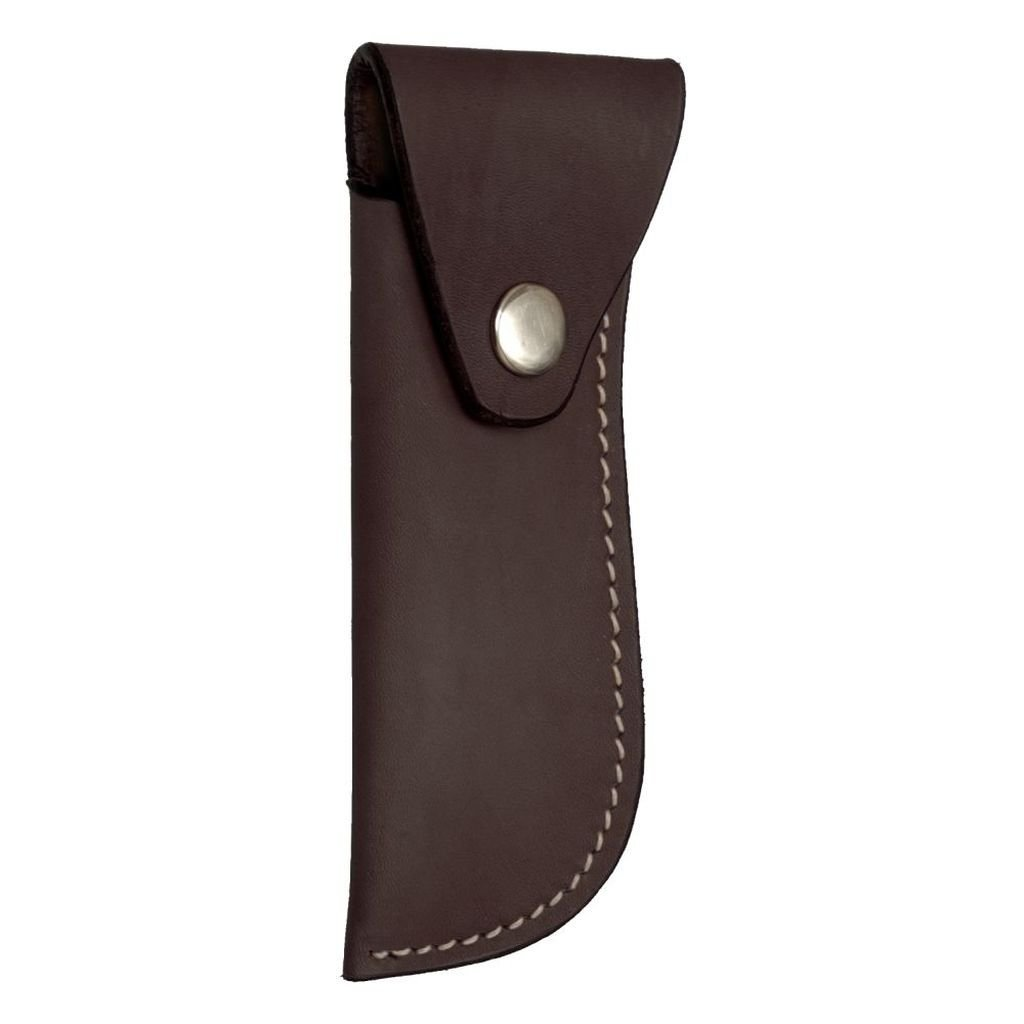 Smooth Leather Hoof Pick/Knife Holder - Dark/Oil