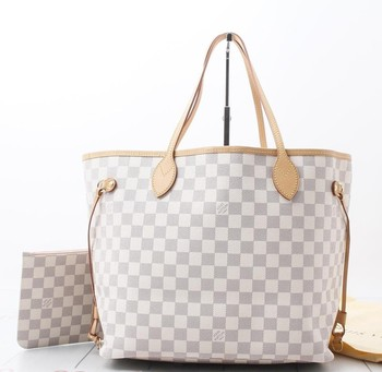 85533d26f0df0 Mint Quality Used brand Handbag LOUIS VUITTON N41605 Neverfull MM Damier  AZUR Totebags for bulk sale