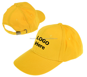 f4035c137ee Workwear Baseball Caps Hats Plain Blank Yellow Unisex 6-Panel Embroidery  Branding