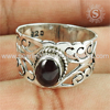 Shining red garnet gemstone silver wholesale rings indian 925 sterling silver jewelry manufacturer