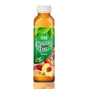 500ml Real Green Tea with Peach juice in Pet bottle