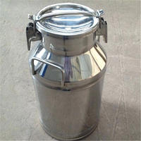 20L - SS304 Mini metal / stainless steel milk can with Shiny finish