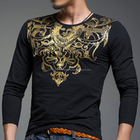 OEM Custom made printed long sleeves t-shirt/Hot 2017 New Fashion Men's t-shirt Summers Men Dry fit t-shirt