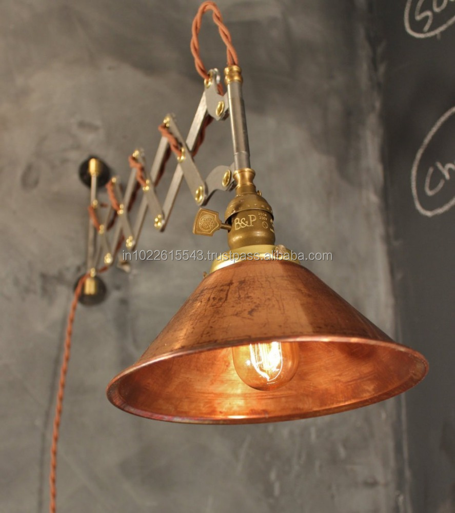 industrial scissor lamp