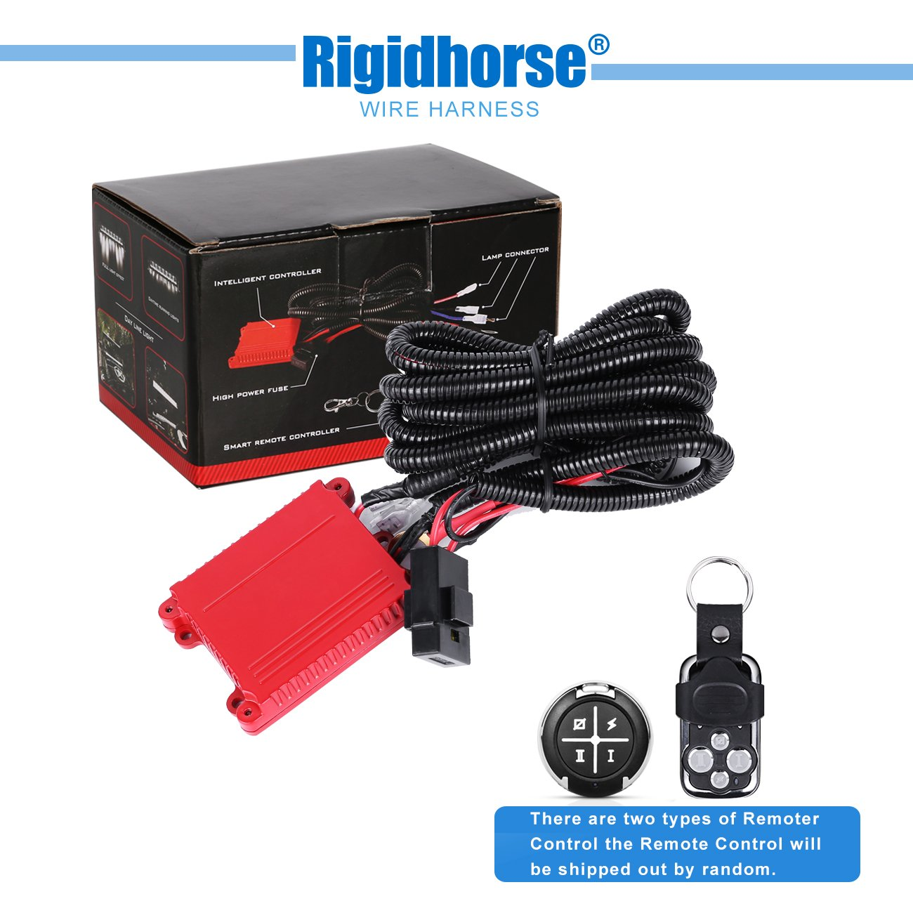 Get Quotations · Wiring Harness Rigidhorse Remote Control Wiring Harness  Kit For 8D Dual-Mode LED Light Bar