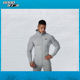 Wholesale Fitness Clothing Blank Gym Zip High Neck Fitted Cut and Gym Hoodie