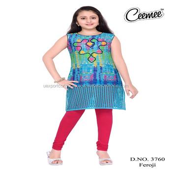 bf5a2eefcdbd Girls Summer Wear Kurtis Designs Different Pattern - Buy Kids Wear ...