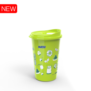 Plastic thermos cup  bottle for cold and hot water 500ml