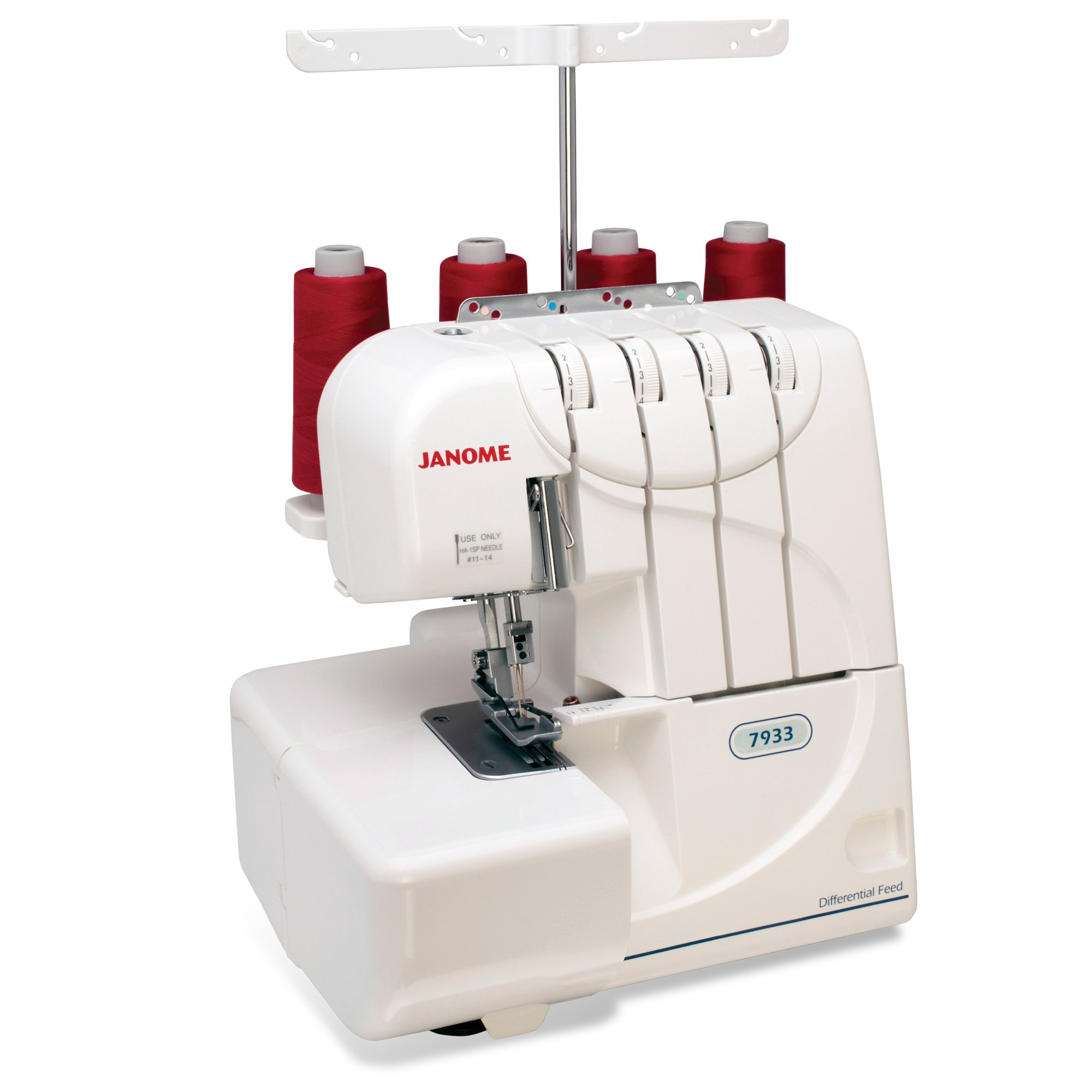 Get Quotations · Janome 7933 Serger with Lay-In Threading, 3 and 4 Thread  Convertible with Differential