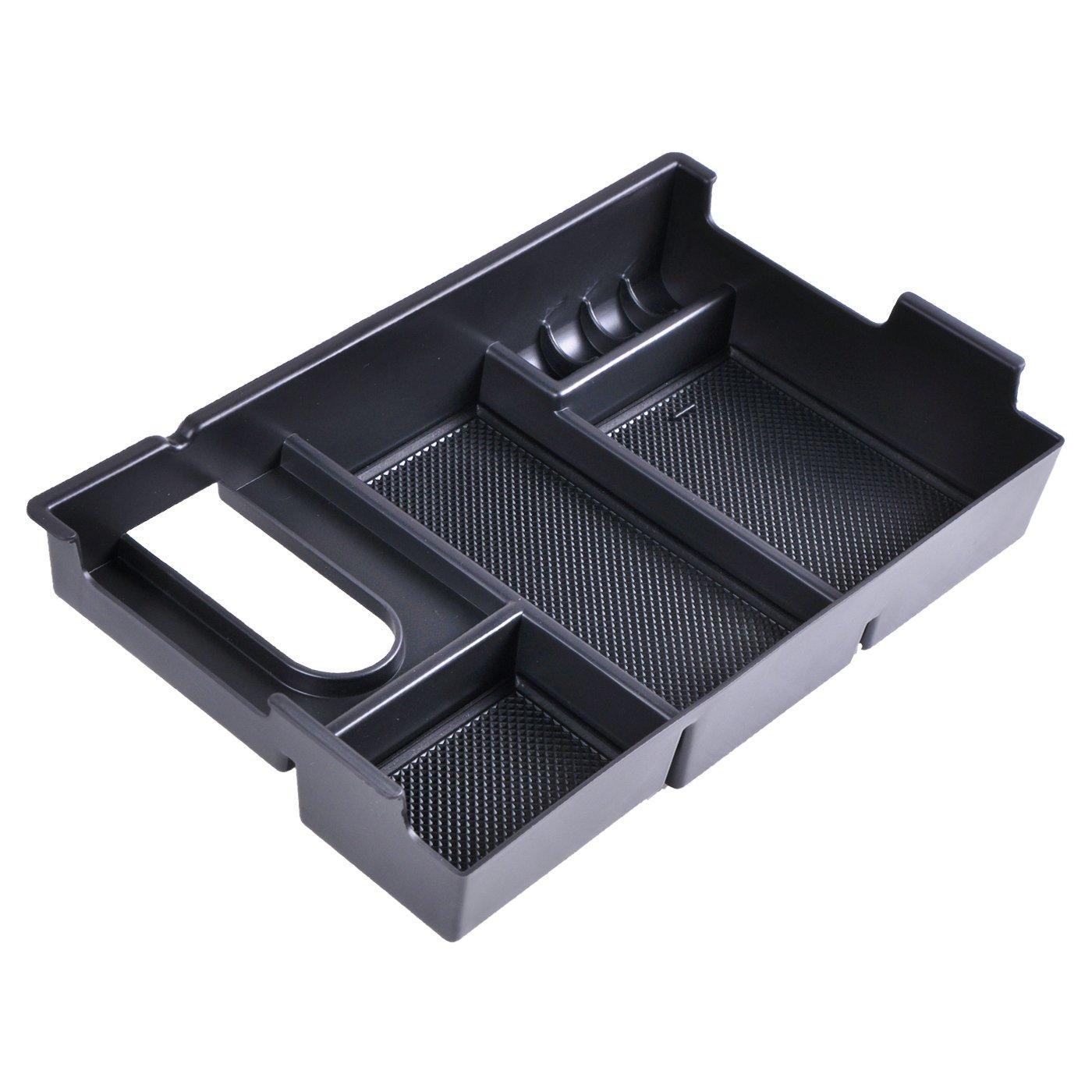 OMOTOR Center Console Insert Organizer Tray Armrest Box Glove Box Storage For Toyota (Toyota Tundra 2014-2018)