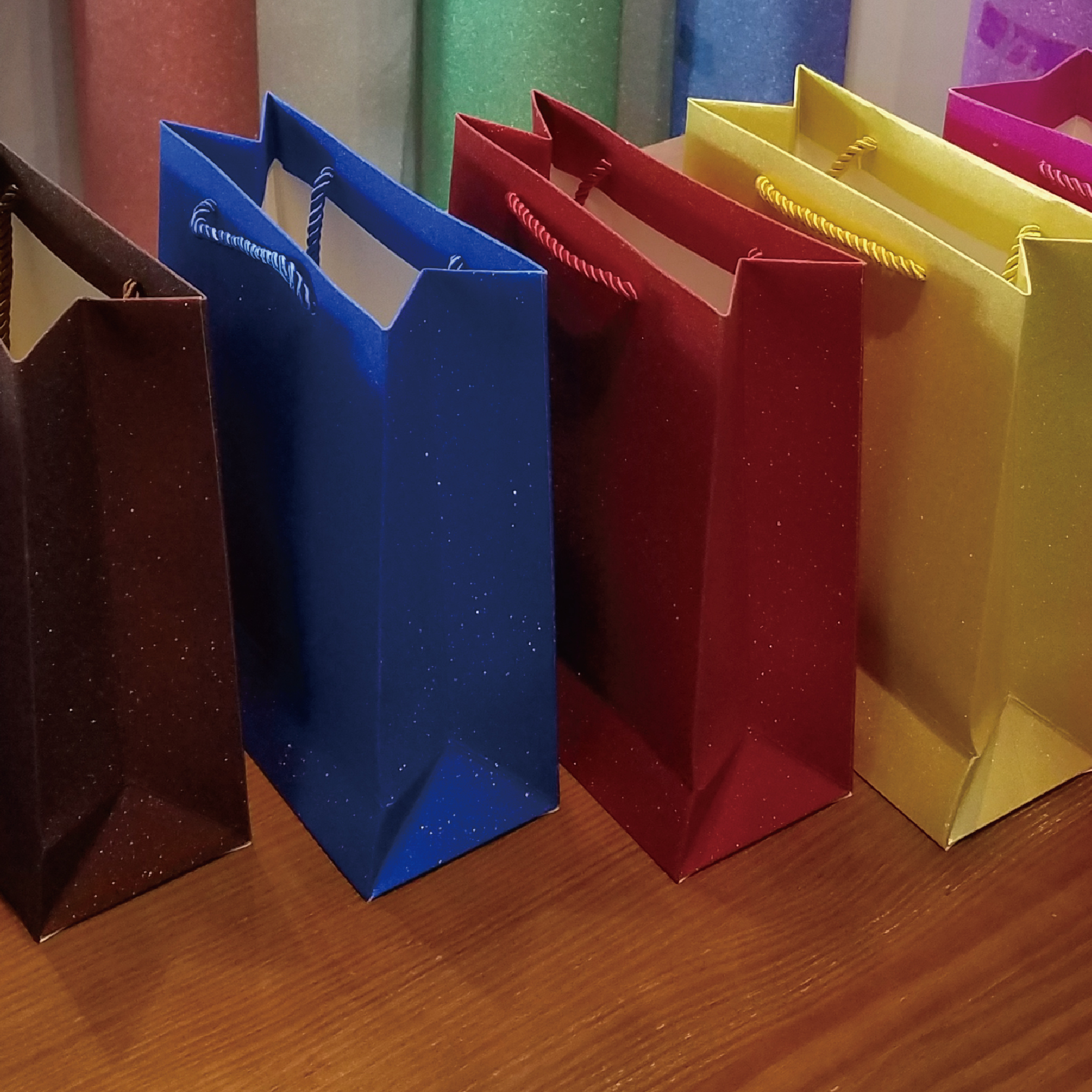 glitter sparkling wine bag Factory Wholesale glitter wine paper bags