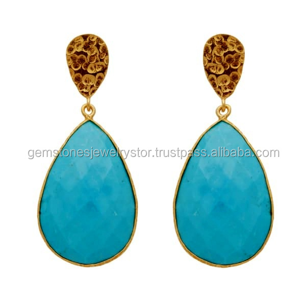 topaz stud gold products ct genuine blue solid turquoise london cttw bh glbtses earrings white