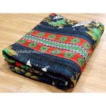 Kantha <span class=keywords><strong>Quilt</strong></span> Vintage Gooi Omkeerbaar <span class=keywords><strong>Katoen</strong></span> Sprei Deken <span class=keywords><strong>Quilt</strong></span>