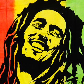 Rasta Bob Marley Hippie Indian Cotton Wall Decor Twin Tapestry Home ...