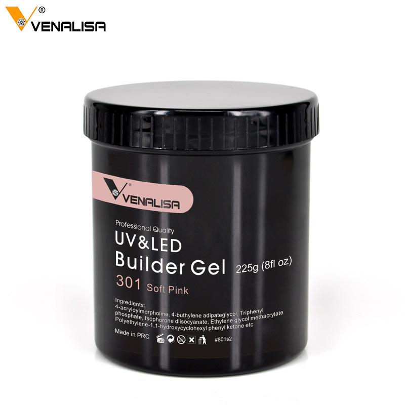 Venalisa 225G soak off camouflage uv builder gel lacquer jelly extension acrylic poly gel 25 color private labeling thin led gel