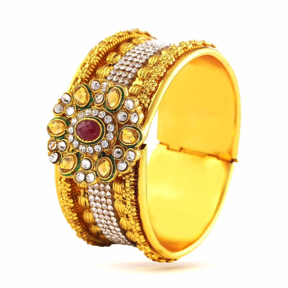 Variation Indian Wedding Bangles Traditional 18K Gold Plated for Women