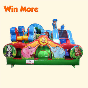 Animal Kingdom Outdoor Forest Inflatable Fun City Playground for Kids