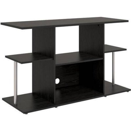"Mainstays Unique Entertainment TV Stand Cabinet Console for Flat Screen TVs up to 42"" Wide (Black Oak)"