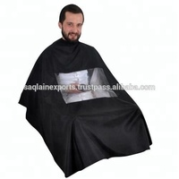 Unisex Hairdressing cape with transparent window salon professional haircutting Polyester waterproof Customized snap barber cape