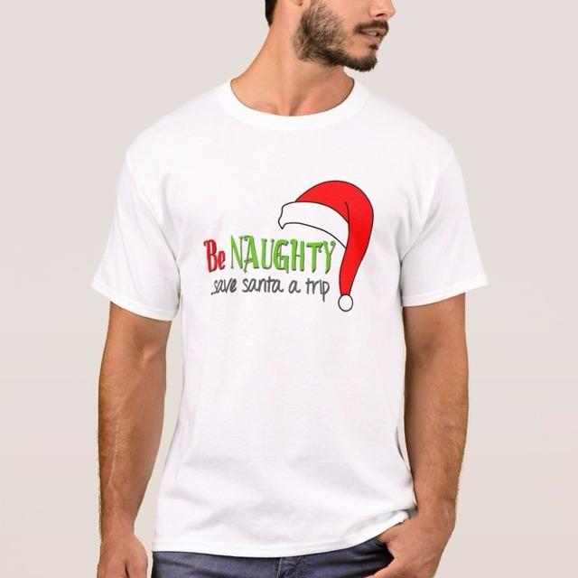 T-shirts Top Tshirt Tees Mens Gents Blank Customize Printed Merry Christmas Season Santa Winter OEM Wholesale Black White 2018