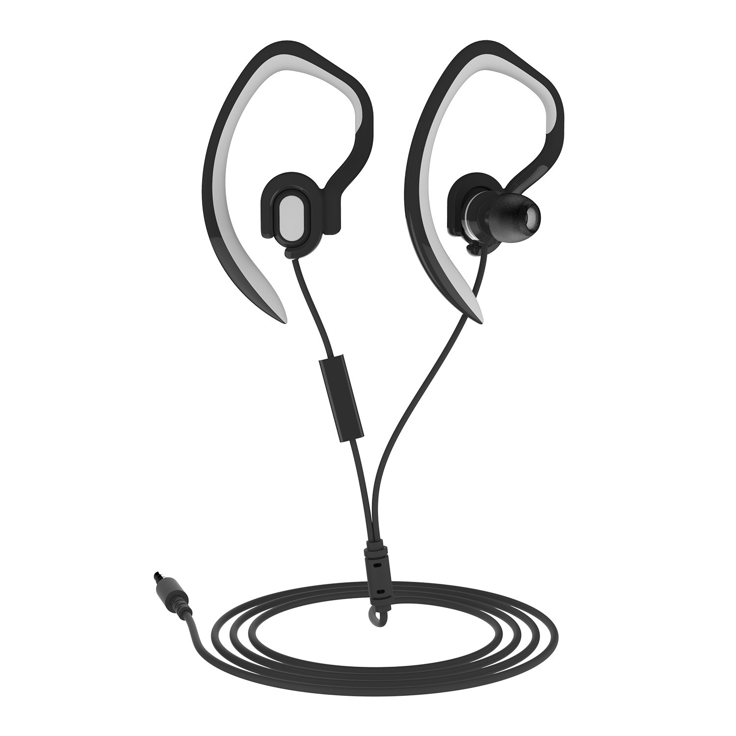 fb9e75ea223 Get Quotations · Sports Earhook Headphones In Ear Headphones workout  headphones Waterproof Earphone Stereo 3.5mm Jack Headphone with