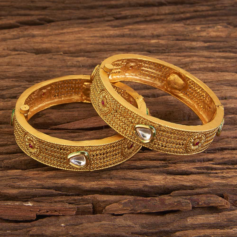 Imitation Classic Bangles With Gold Plating 17290 Ruby