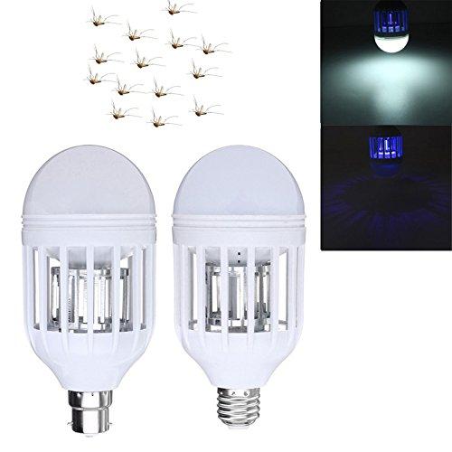 Lights & Lighting - E27 B22 15w Anti-Mosquito Electronic Insect Fly Zapper Led Light Bulb Ac220v Ac110v - Zapper Led Bulb Zapplight Light Zapp Mosquito Zapping That Zaps Bugs - 1PCs