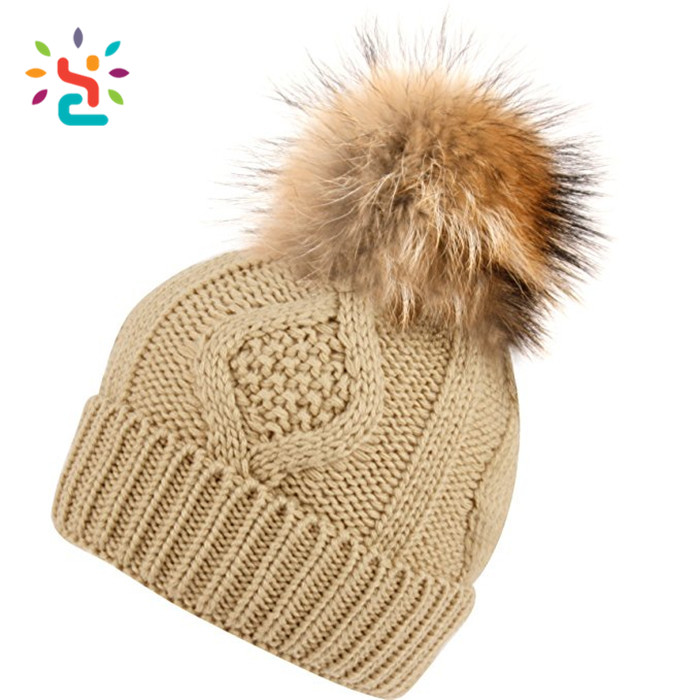 Custom Hand Knitted Woolen Caps Wholesale Straight Needle Knit Hat ...
