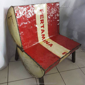 Indonesia Vintage Industrial Furniture Outdoor Chair Recycled Material