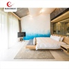 Commercial Customized New Interiors Colorful Bedroom Wooden Hotel Suite Room Furniture Set