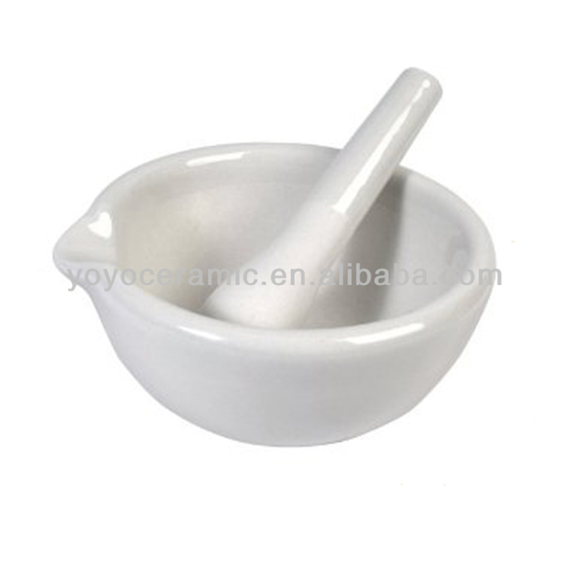 Porcelain mortar and pestle health promotional gifts