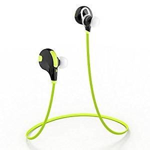 MMOBIEL Bluetooth Headphones V4.1 Wireless Stereo Hi-Fi Sound InEar Noise Cancelling Sport Earbuds Incl. Microphone/APT-X for all Bluetooth Smartphones (Yellow)