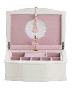 white wooden MDF mirror jewelry gift box for storge mdf ballerina jewelry boxes reed & barton ballerina jewelry box