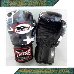 Twins Special Genuine Leather Boxing Gloves, camo design boxing gloves DG-2023