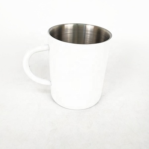 wholesale white stainless steel coffee cup mug with your logo