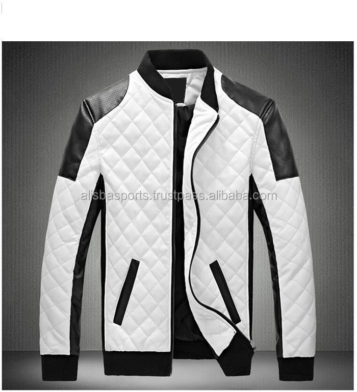 2017 NEW Winter Spring Men's White Leather Jackets And Coats, Men Biker Jacket Leather Coats&jacket Men
