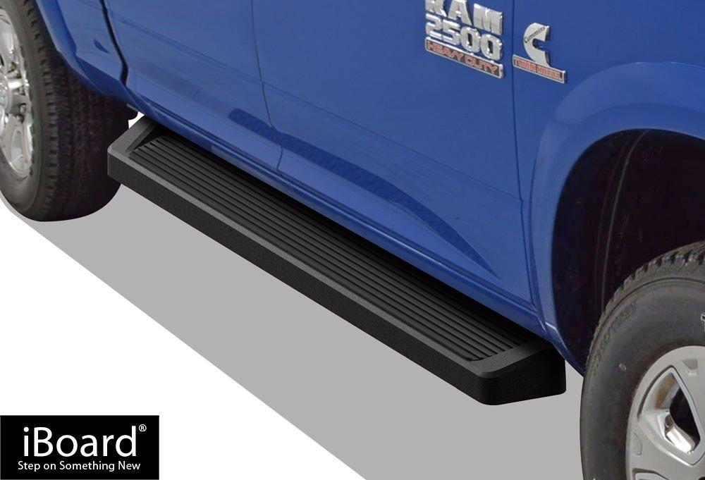 iBoard Black Running Boards Style Custom Fit 2009-2017 Dodge Ram 1500 Crew Cab Pickup 4-Door & 2010-2017 Ram 2500 3500 (Nerf Bars | Side Steps | Side Bars)