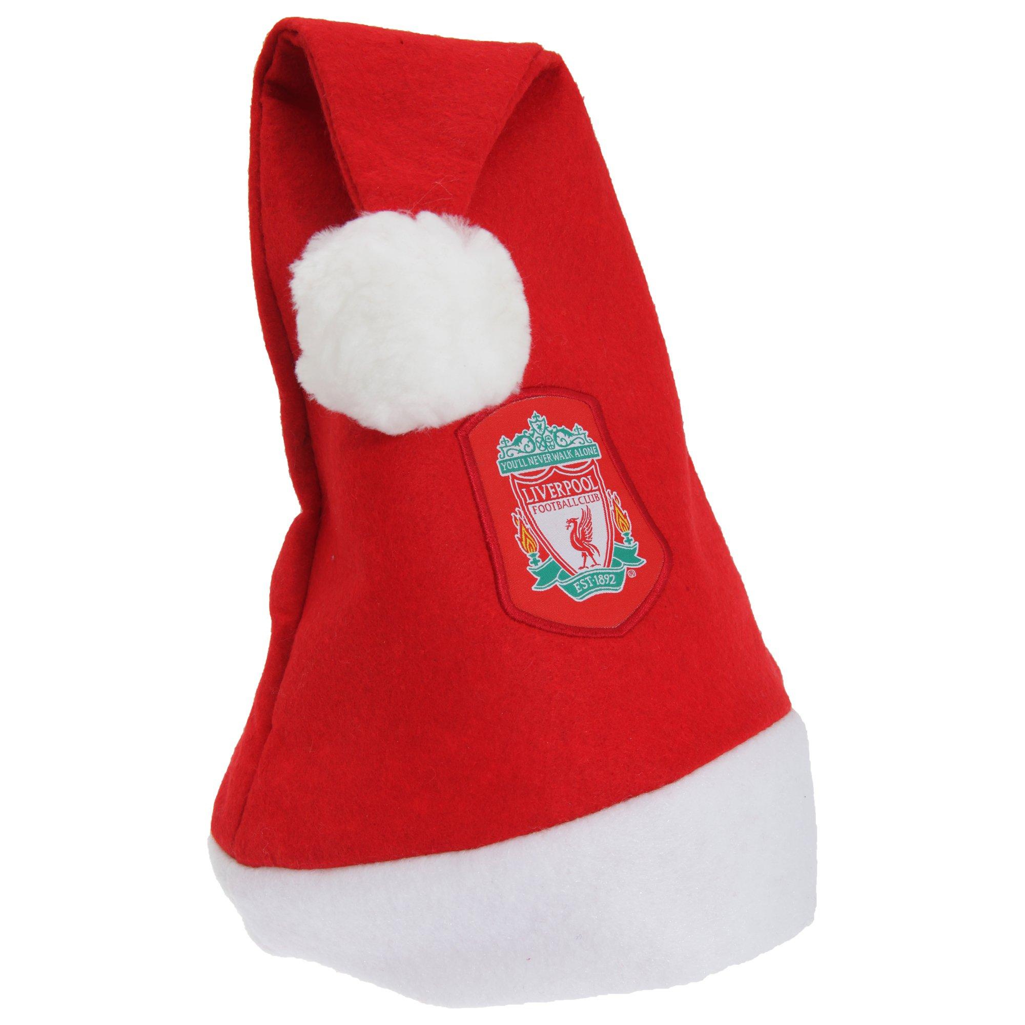 Liverpool FC Official Soccer Crest Christmas Santa Hat