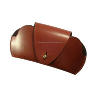 Cool eyewear glasses case / eyeglasses cases with press button lock / spectacle leather cases