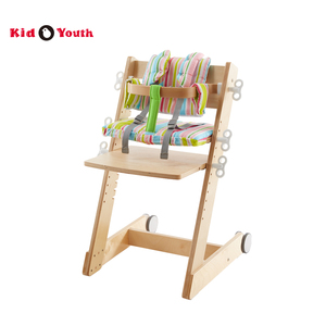 High wooden ergo adjustable chair for baby