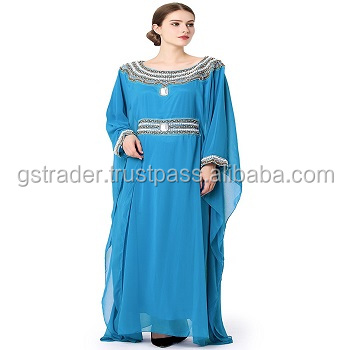 2017 kaftan/caftan for arabic abaya moroccan and turkish womens chiffon dubai kaftan for sale