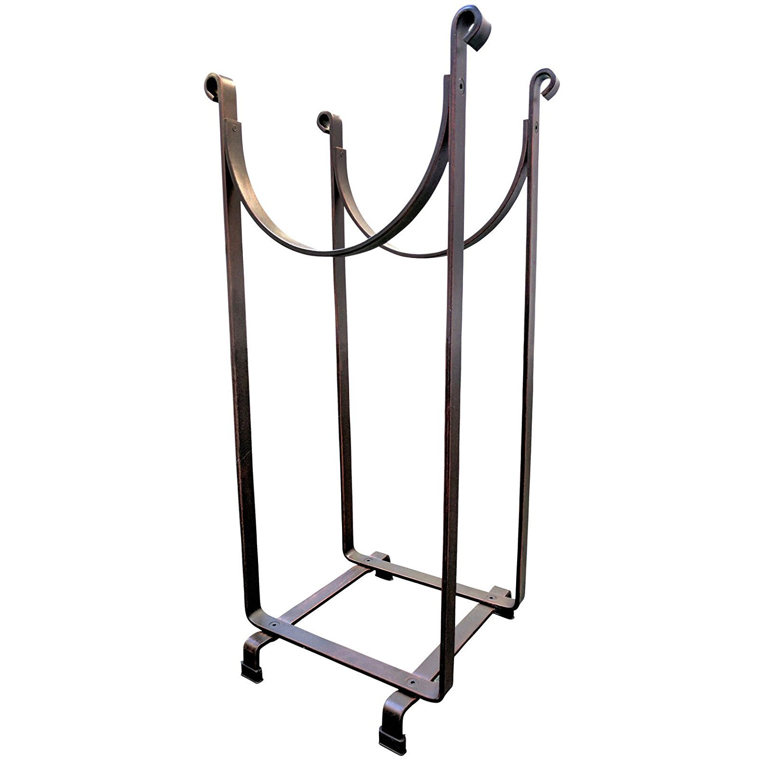 "Steel Sling Hearth Firewood Log Rack Storage Holder 22"" H x 14"" L + FREE E-Book"