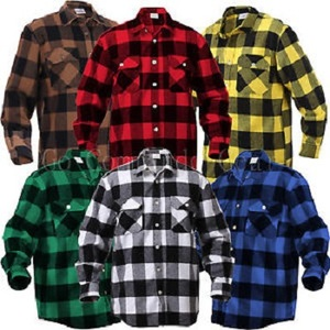 assorted colours brushed cotton flannel shirts