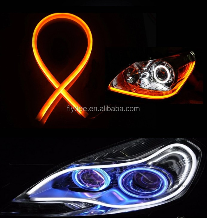 The best hot selling 12V Car Daytime Running Lights Soft Article Lamp, Blue Light, Length: 45cm 60cm 85cm