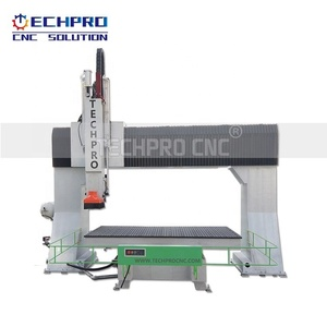 TechProcnc 5 axis cnc router machine TPM1212 3D carving for sale